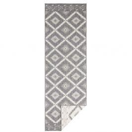 Šedý oboustranný běhoun Bougari Criss, 150 x 80 cm