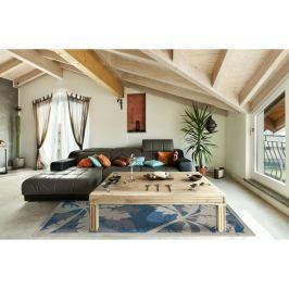 Modrý vysoce odolný koberec vhodný do exteriéru Webtappeti Palms,135x190cm