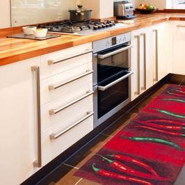 Vysoce odolný kuchyňský běhoun Floorita Peperoncini, 60 x 220 cm