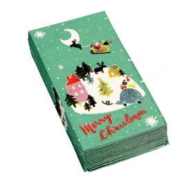 Sada 12 vánočních kapesníčků Rex London Christmas Wonderland
