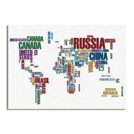 Obraz Really Nice Things Typo Worldmap, 50x70cm