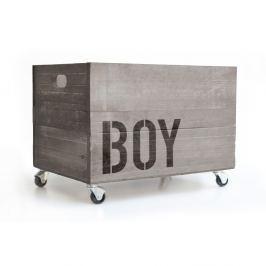 Šedý pojízdný box Really Nice Things Boy