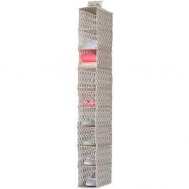 Béžový závěsný organizér s 9 přihrádkami Compactor, šířka 15cm