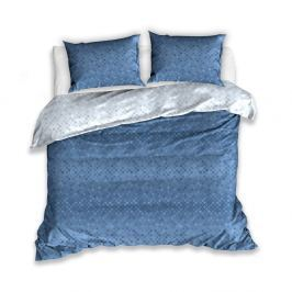 Modré bavlněné povlečení na dvoulůžko s 2 povlaky na polštář CARBOTEX Lia, 160x200cm