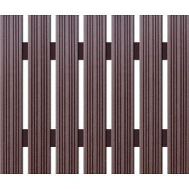WPC úzká plotovka Nextwood, výška 1,2 až 2 metry, barva wenge • 72x14x1200 až 2000 mm