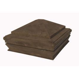 WPC vrchní kryt na svislé sloupky Nextwood, odstíny olše - třešeň - dub - wenge • 163x163x87 mm
