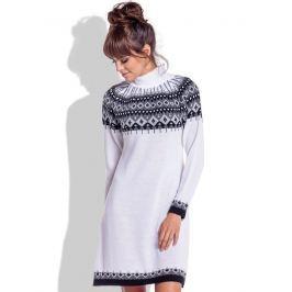 Fobya Dámské šaty F346_White