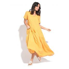 Couleur Lin Dámské šaty 6734 - ROBE STACY P6901 MOUTARDE