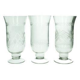 KERSTEN - Set 3ks - sklenice, čirá, 10,5x10,5x20cm (cena za ks) - (LEV-4753)
