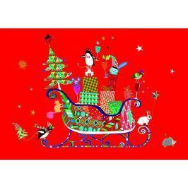 TURNOWSKY - Luxusní přání s obálkou, vánoční  - veselá zvířátka 16,7 x 11,8 cm (MO 20225R)