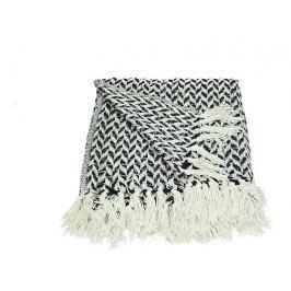 KERSTEN - Pléd bavlněný, černý 130x170cm - (WER-0636)