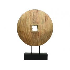 KERSTEN - Dekorace - dřevěný kruh, přírodní, 40x9x54cm - (WER-2398)