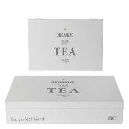 Krabice na čajové sáčky bílá, 16,5 x 24,5cm