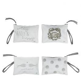 Make up bag White/Crab L.grey & Titane