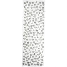 Runner 50x160 Vintage Grey Stars on white