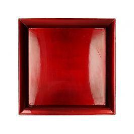 KERSTEN - Tác, plast, červená, 2x29x29cm
