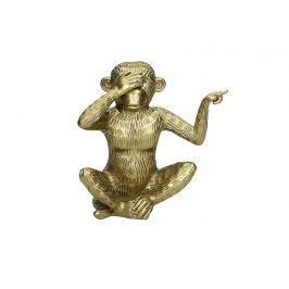 KERSTEN - Opice, dekorace, polyresin, zlatá, 15x9x15cm