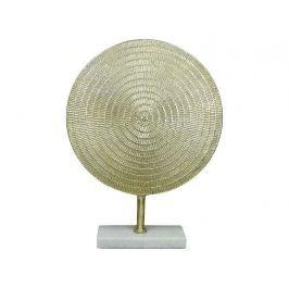 KERSTEN - Dekorace stojící, ručně tepaný hliník, zlatá, 47x10x36cm