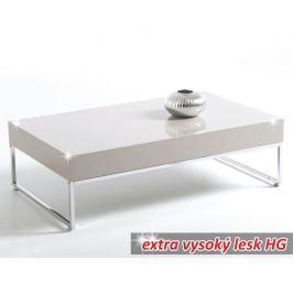 Konferenční stolek, bílá extra vysoký lesk HG, LOTTI