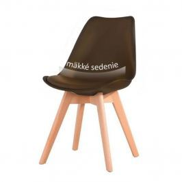 Židle, tmavě hnědá / buk, BALI NEW