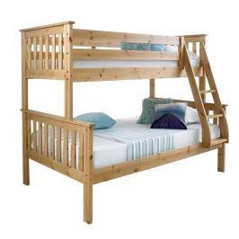 Patrová rozložitelná postel, přírodní, LUINI