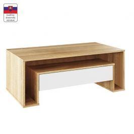 Konferenční stolek, dub sonoma/bílá, DAWSON