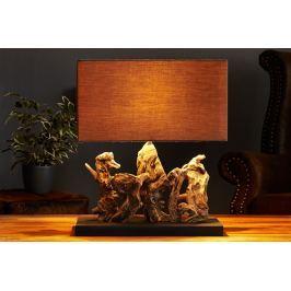 Masiv24 - Stolní lampa ARAGON - hnědá