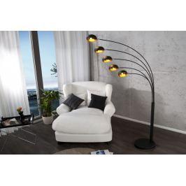 Masiv24 - Stojací lampa FIWE - černá / zlatá