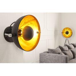Masiv24 - Nástěnná lampa STUIDO - černá / zlatá