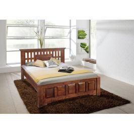Masiv24 - Koloniální postel 140x200 masivní akátové dřevo CLASSIC CAMBRIDGE