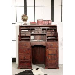 Masiv24 - Koloniální psací stůl, masivní akátový nábytek CAMBRIDGE