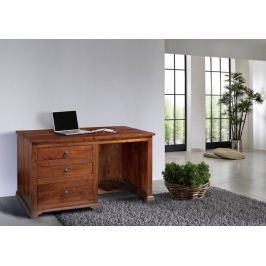 Masiv24 - Koloniální psací stůl, masivní akátové dřevo CAMBRIDGE