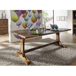 Masiv24 - OLDTIME jídelní stůl  - 200x100cm lakované staré indické dřevo