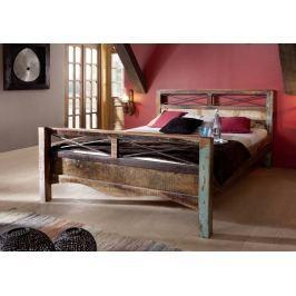 Masiv24 - OLDTIME postel - 180x200cm lakované staré indické dřevo