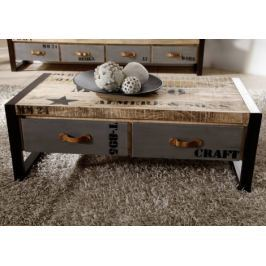 Masiv24 - FABRICA konferenční stolek, potlačená litina a mangové dřevo