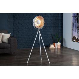 Masiv24 - Stojací lampa SADO 140 cm - stříbrná