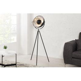 Masiv24 - Stojací lampa SADO - černá, stříbrná
