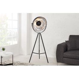 Masiv24 - Stojací lampa STODY 160 cm - černá, stříbrná