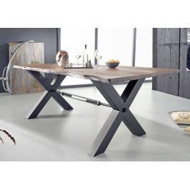 Masiv24 - DARKNESS Jídelní stůl 260x100cm X-nohy – černá