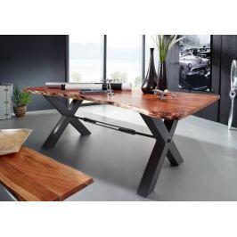 Masiv24 - DARKNESS Jídelní stůl 240x100cm X-nohy – černá