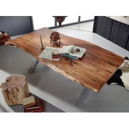 Masiv24 - DARKNESS Jídelní stůl 180x110cm X-nohy – stříbrná
