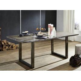 Masiv24 - ROUND Jedálenský stôl METALL 200x100cm, indický palisander