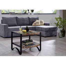 Masiv24 - INDUSTRY príručný stolík 60 cm, liatina a staré drevo