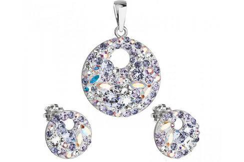 Evolution Group Elegantní souprava šperků Violet 39148.3 stříbro 925/1000 Soupravy šperků