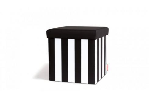 Taburetka s víkem Black&White Křesla, taburety