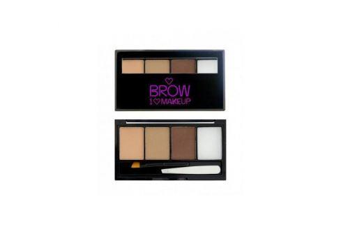 Makeup Revolution Set na obočí I Love Brows (Palette For Brow) 3 g Péče o řasy, obočí