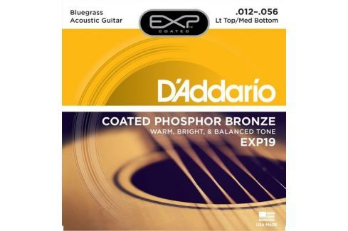 Daddario EXP19 Kovové struny pro akustickou kytaru Struny