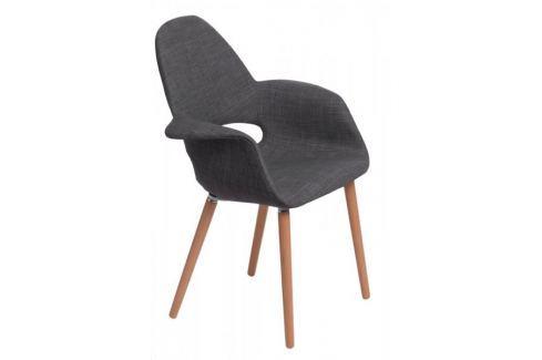 Mørtens Furniture Jídelní židle s područkami Norbert, šedá Jídelní židle
