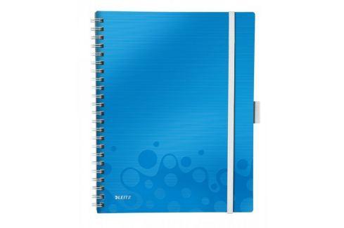 Blok mobilní Leitz WOW A4 linkovaný metalicky modrý Bloky, sešity
