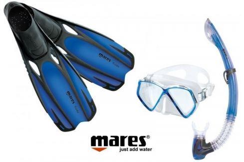 Mares Sada PIRAT maska, šnorchl s ploutvemi 31/33 modrá Potápěčské brýle, masky